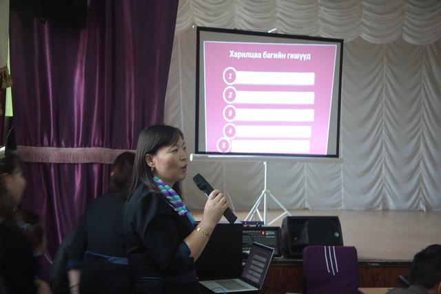 Teacher giving feedback