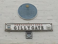 Photo of Gillygate blue plaque