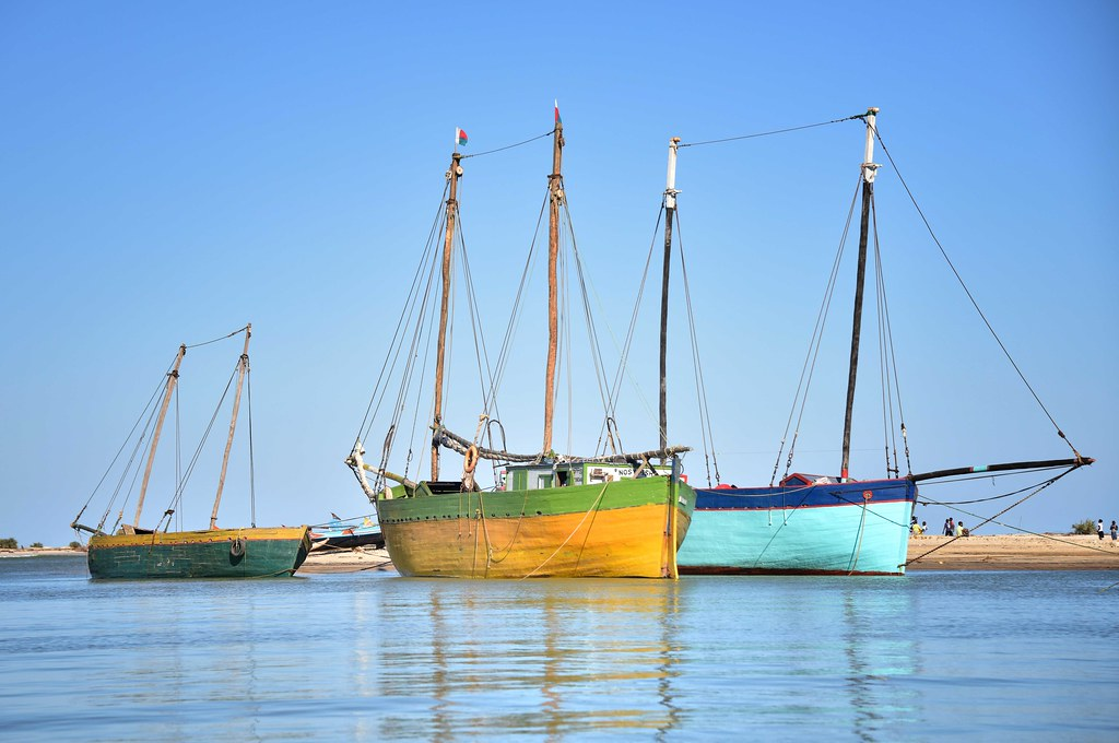 photo of fishing boats in Madagascar