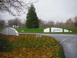Entrance to Millbrook Vehicle Proving Ground