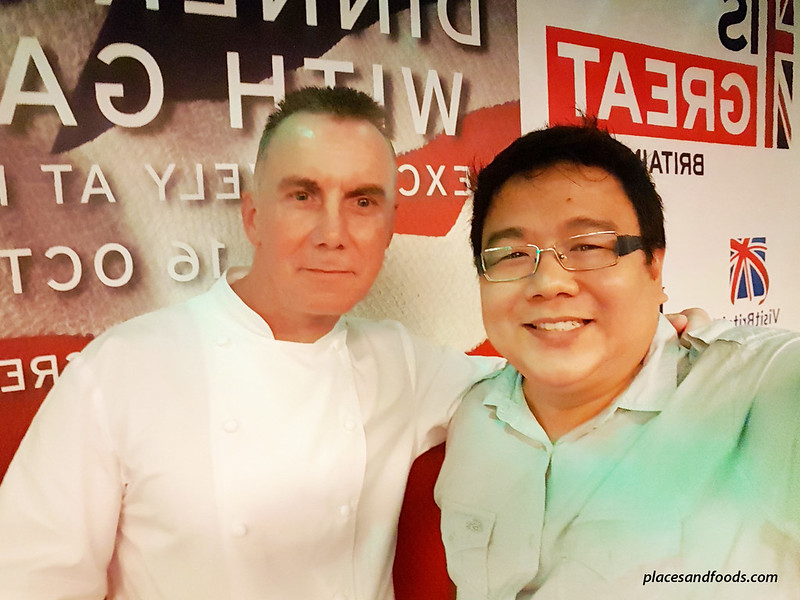 dinner and audience with gary rhodes selfie placesandfoods