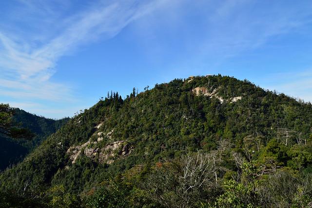獅子岩展望台からの眺め(弥山山頂)