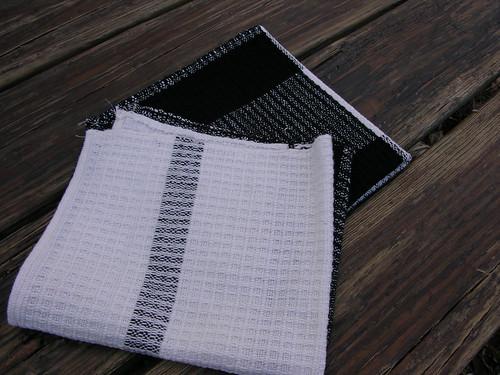 black & white waffle weave