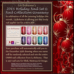 La Boheme  $10 Holiday Nails + Giveaway