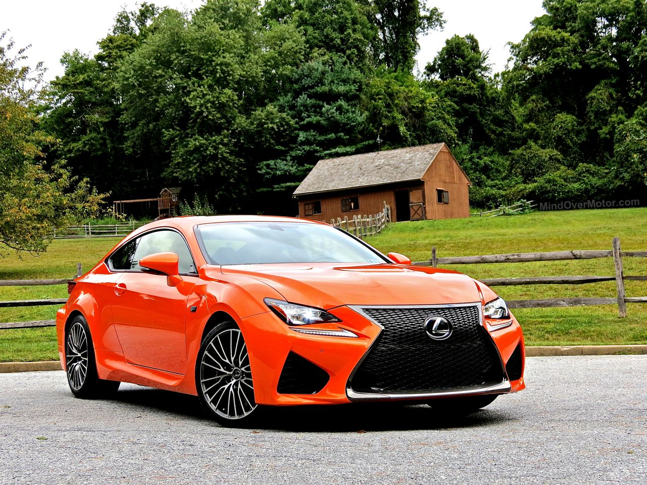 Orange Lexus RC-F Review 1