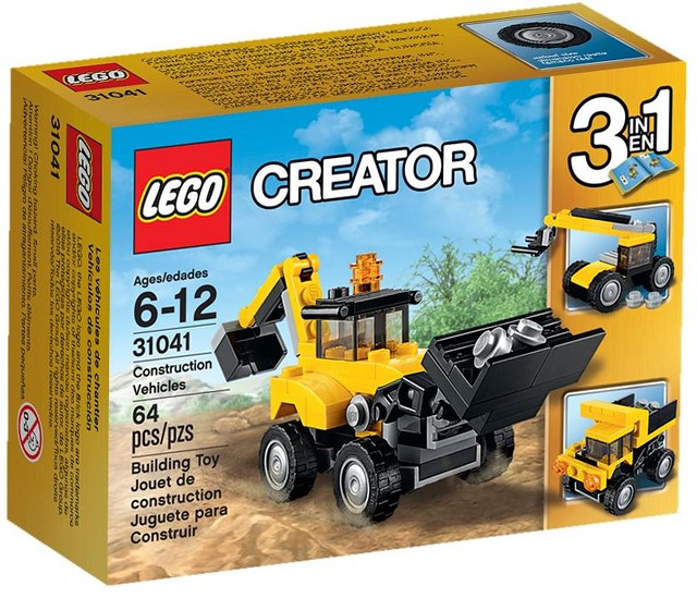 LEGO Creator 2016: 31041 - Construction Vehicles