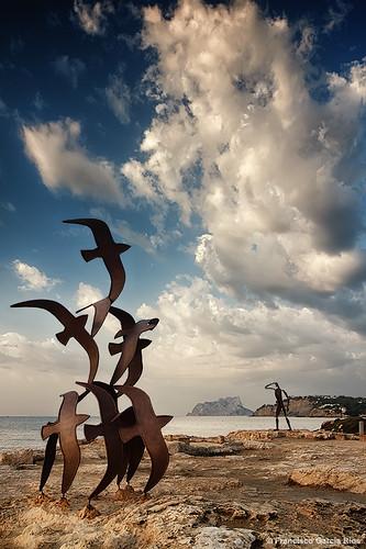 sea sky seascape clouds marina landscape mar spain mediterranean paisaje cielo nubes mediterráneo teulada moraira costablanca alicantecostablanca recesvintus franciscogarcíaríos