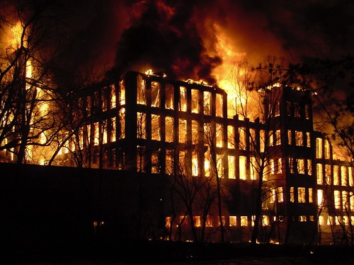 Glendale Mill Fire March 21, 2004