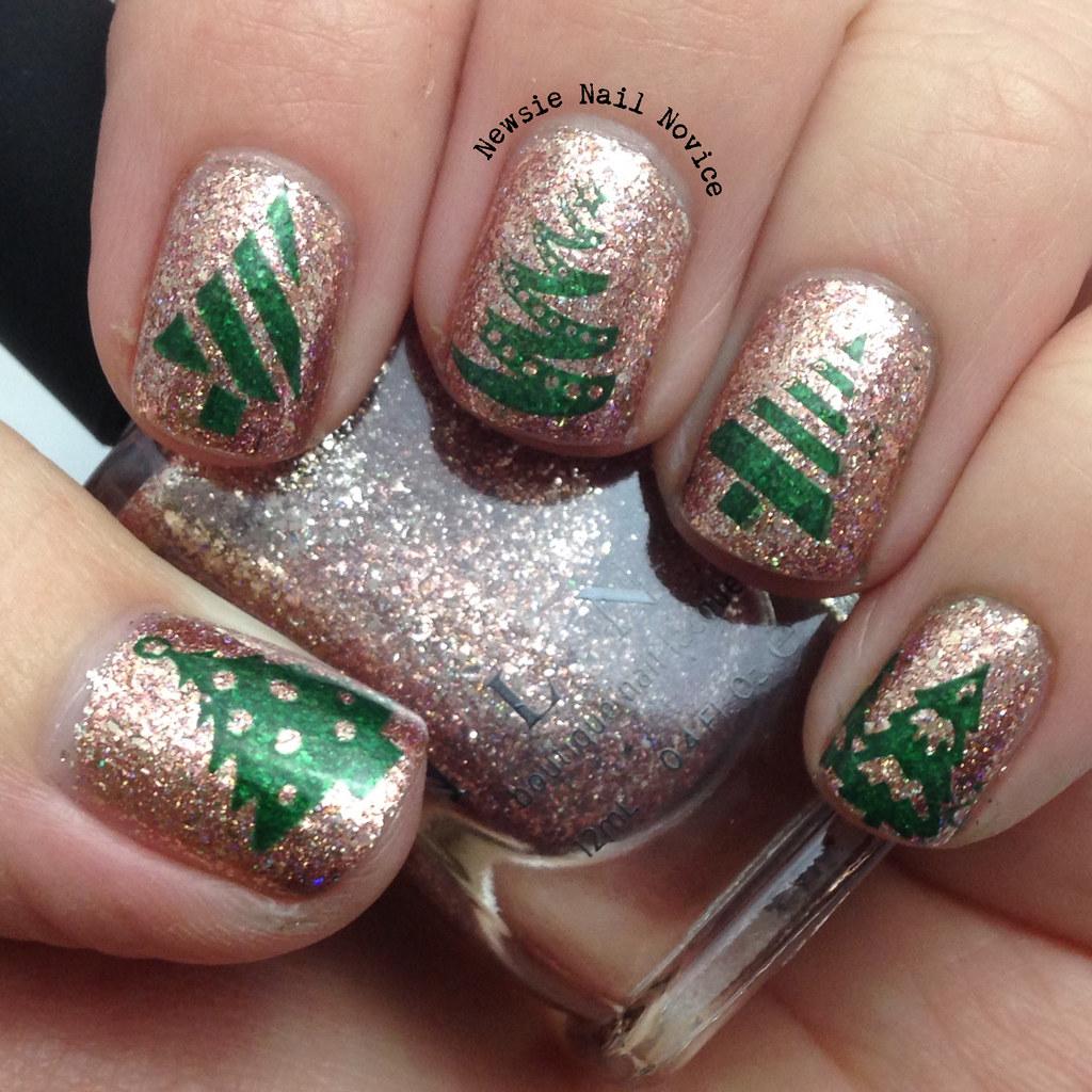 Christmas Tree Nails Design: 12 Days Of Christmas Nail Art: Christmas Trees