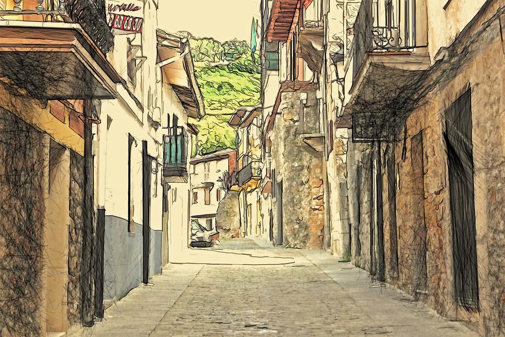 una calle de Laredo