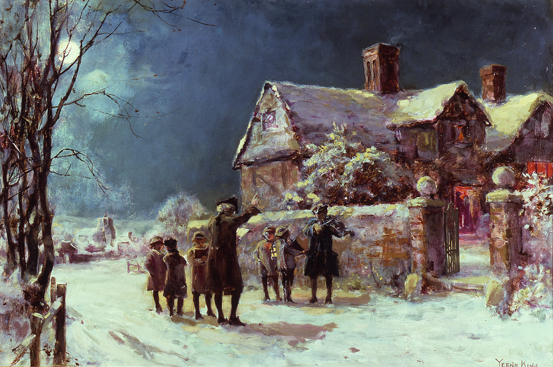 Twas the Night Before Christmas by Henry John Yeend King (English, 1855 - 1924)