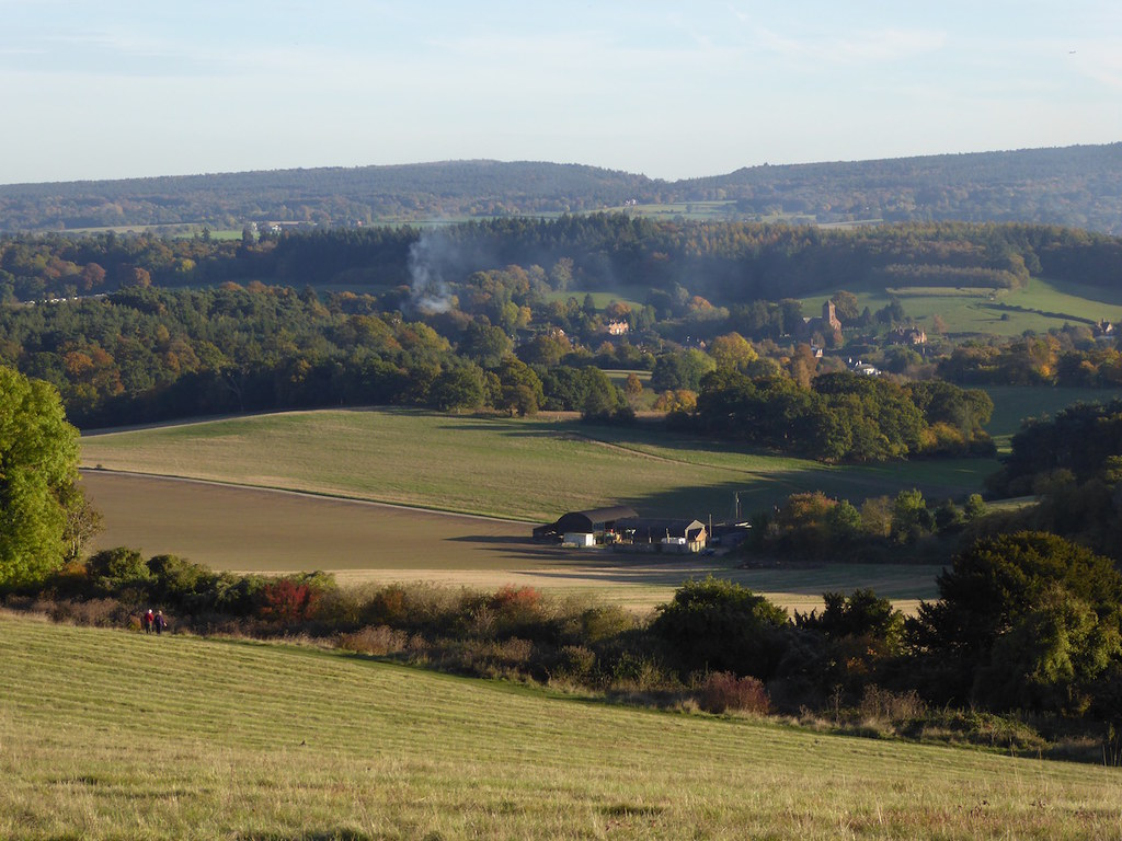 View from the North Downs near Newlands Corner Guildford to Horsley walk