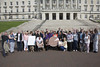 15 September  2016 - Copyright © Kevin Cooper Photoline NUJ: Mental health rights campaigners from different parts of the north including Belfast, Derry, Draperstown and Cookstown took their campaign to the steps of Parliament Buildings on Thursday 15 September 2016, along with MLAs and mental health charities, to call on the Minister of Health Michelle O'Neill MLA to increase funding for mental health services, as part of their #MoreDoughNeeded campaign. The Mental Health Rights Campaign group gave an Open Letter to the Health Minister calling for funding of mental health services in line with need. While mental health accounts for approximately 25% of health cases it currently receives only 8.5% of the health budget. The open letter was also supported by many MLAs including the Chair and Deputy Chair of the Health Committee, Paula Bradley MLA and Gary Middleton MLA as well as the Chair of the All Party Group on Mental Health Mark H Durkan MLA, who all attendance the #MoreDoughNeeded event. Campaigners held Unfair Share Cake 3 foot cake, individual cup cakes and an A1 size copy of the open letter. Mental Health Rights Campaigners told the Health Minister 'more dough needed'.