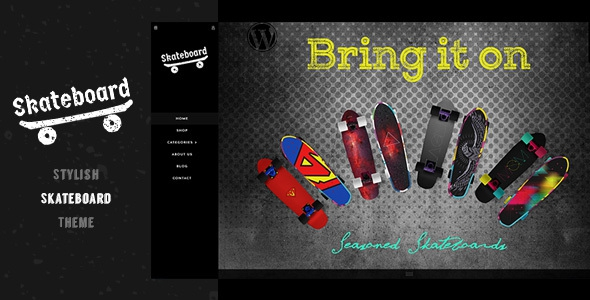 Skate board v1.0 - Fullscreen Sports Shopify Theme