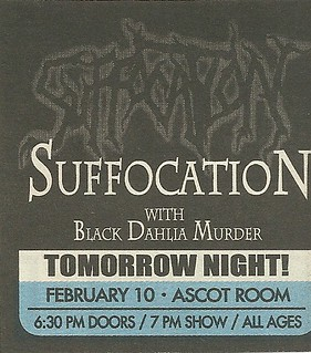 02/10/05 Suffocation/ BLack Dahlia Murder @ The Quest (Ascot Room), Minneapolis, MN