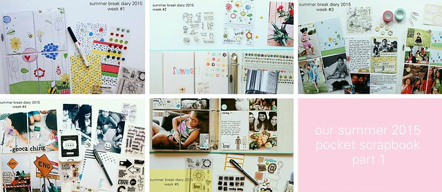 our summer 2015 pocket scrapbook (part 1)