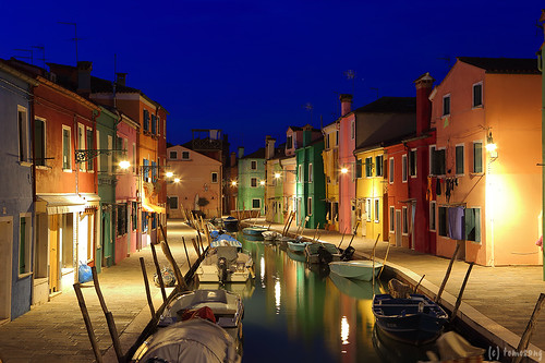 Burano Island at Night