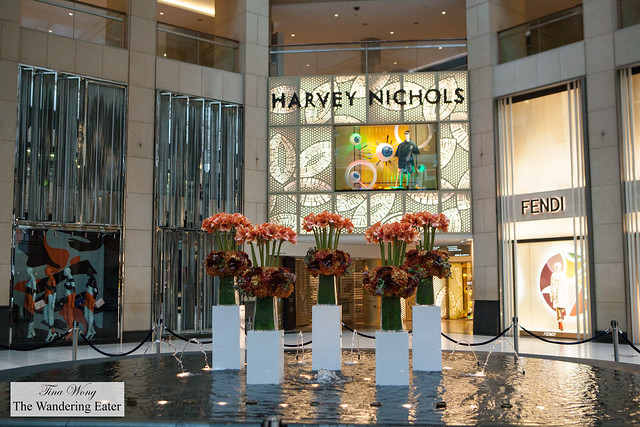 Harvey Nichols and Fountain at The Landmark