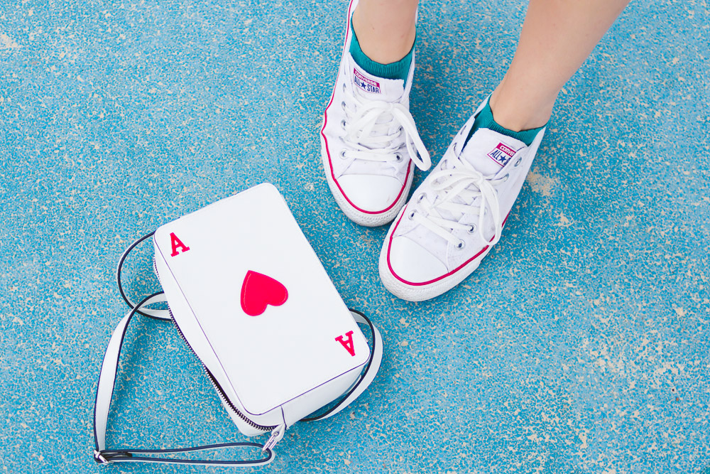 white converse and matching bag