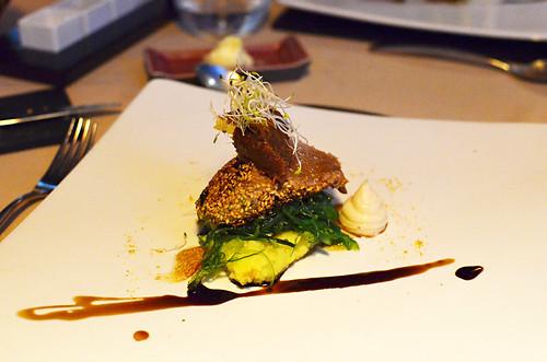 Sesame tuna with mash, Lucas Maes, La Orotava, Tenerife