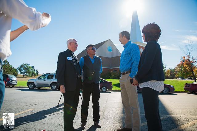 Senator John Thune and Representative Kristi Noem visit Red Cloud Indian School