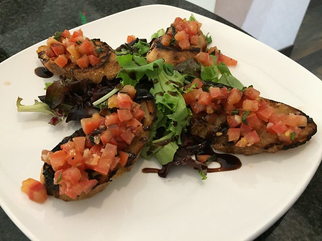 Tomato basil bruschetta - Affinity Restaurant & Bar