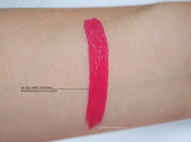 Rimmel As You Want Victoria lipstick swatch
