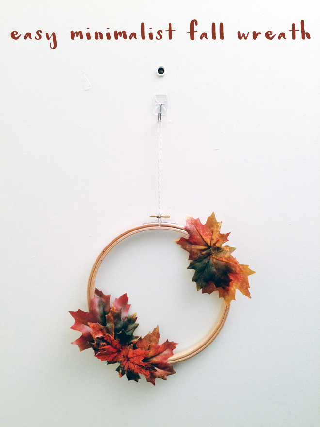 easy minimalist fall wreath diy