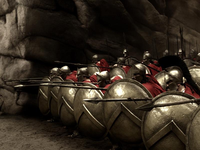 Fotograma de la película 300, inspirada en la guerra de las Termópilas