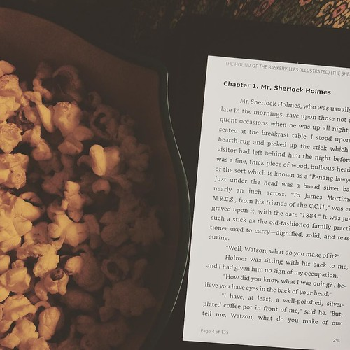 A very rainy Tuesday called for popcorn, Sherlock Homes, and the first game of the World Series. #itssimplytuesday