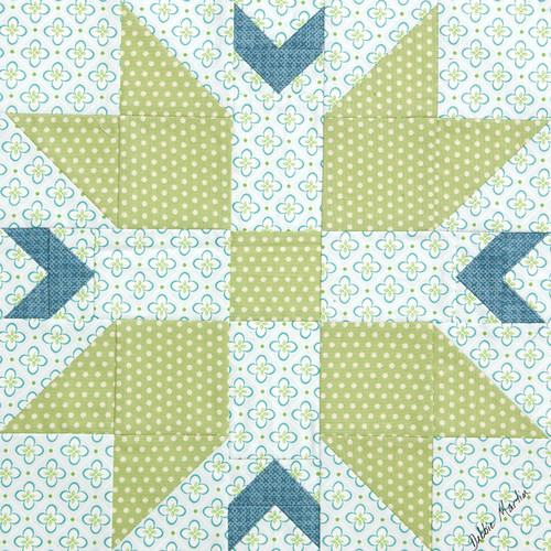 All Points North quilt block