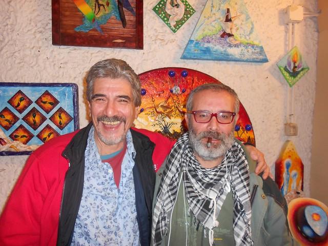 Antonio Tortora con il maestro di pittura e scultura Salvatore Oliva