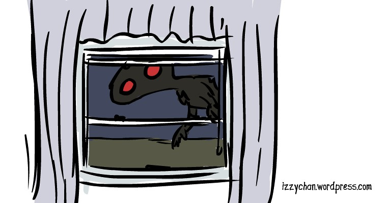 creepy shadow nightmare monster