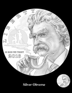 Mark Twain Silver Obverse