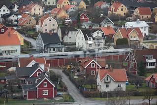 View of Örebro, Train from the Svampen