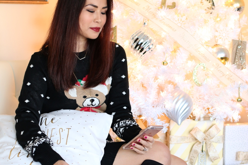 Tipsy Elves Christmas Sweater Dress, Teddy Bear Santa