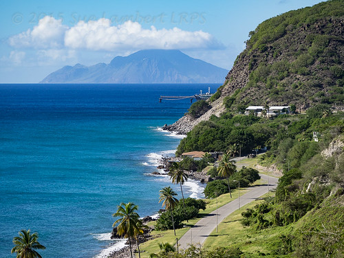 sea cliff mountain landscape saba volcano coast seaside shore bluff oranjestad steustatius gallowsbay caribbeancruise2015