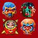 Three Face and Big Brain Aliens Masks 3172