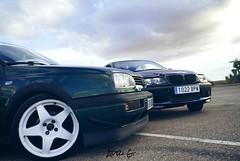 Mi Volkswagen Golf GT MK3 con el BMW 330XD E46 de mi amigo, en Autilla del Pino, Palencia, España.
