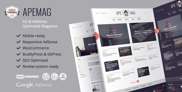 Apemag v1.0.9 – Stylish magazine with review system