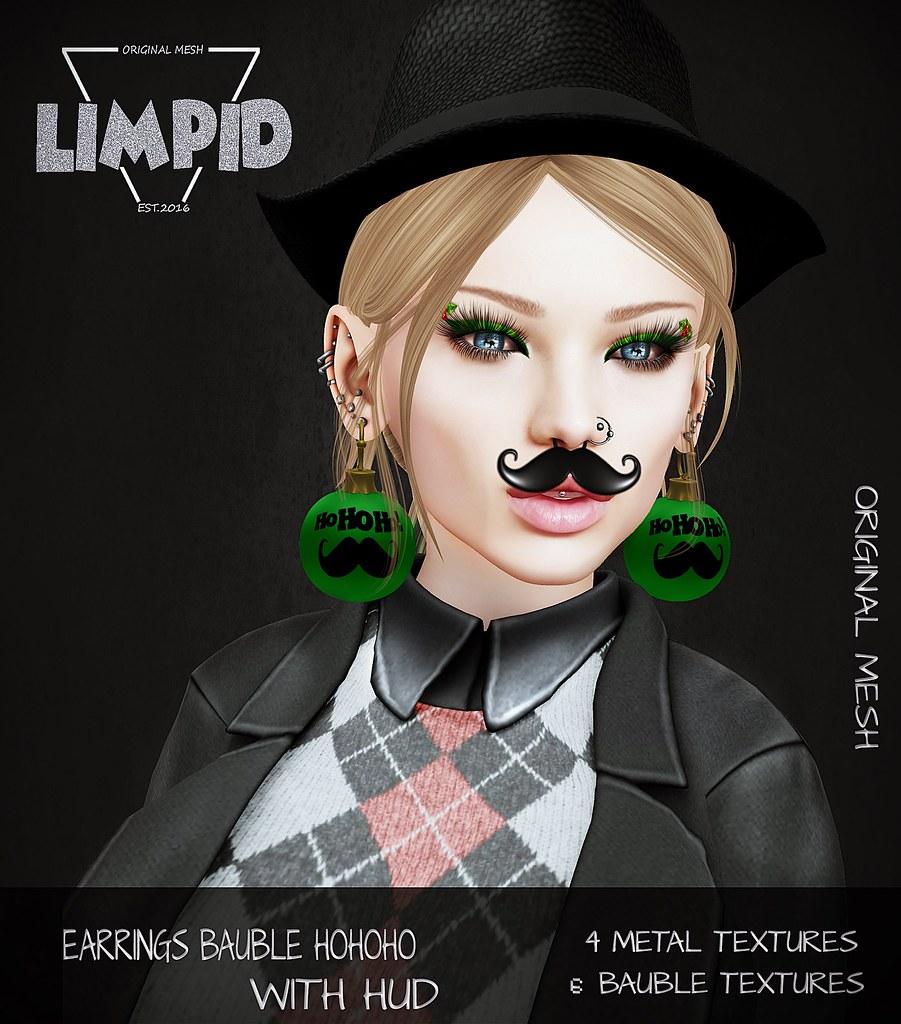 Limpid Earrings Bauble HoHoHo Ad