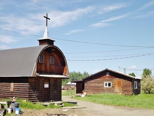 Church and cabin