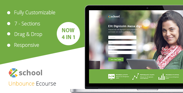 eSchool - Unbounce Template