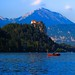 Bled castle rising up above lake Bled - Slovenia by Lior. L