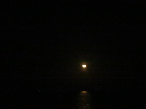 Puesta de luna en el Amazonas II