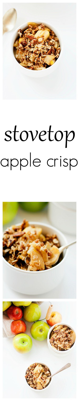 stovetop apple crisp - Well Floured