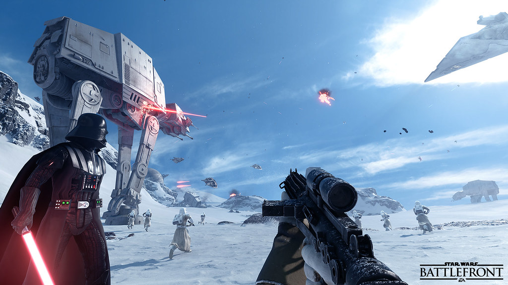 Seven Ways to Get Hyped for The Force Awakens Star Wars battlefront vader ps4 xboxone next gen