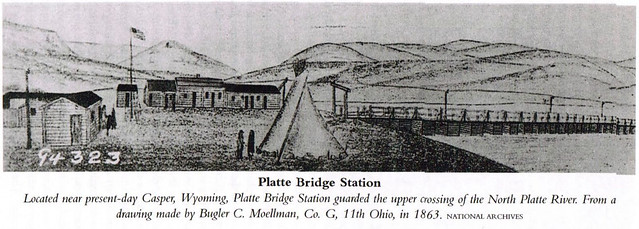 Located near present day Casper, Wyoming, Platte Bridge Station guarded the  upper  crossing of the North Platte River.