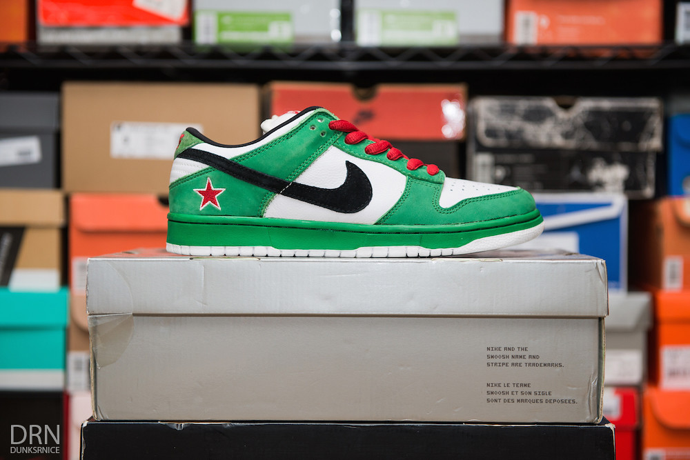 Heineken Dunk Low SB's.