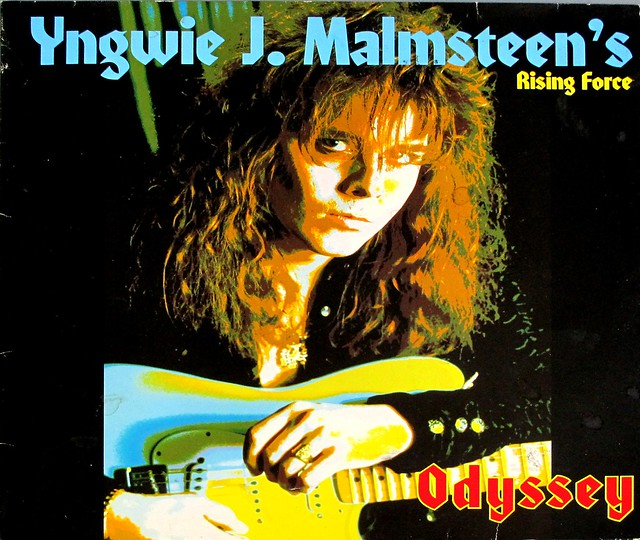 "YNGWIE J. MALMSTEEN RISING FORCE ODYSSEY 12"" LP VINYL"